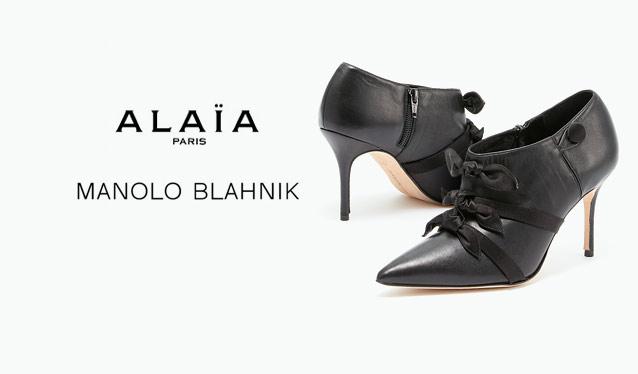 MANOLO BLAHNIK/AZZEDINE ALAIAのセールをチェック