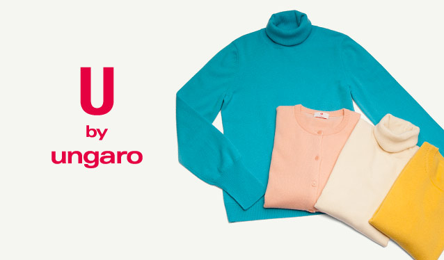 U by UNGARO -100% Cashmere Knit Selection-のセールをチェック